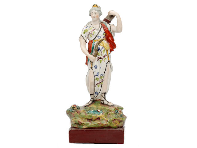 A Walton figure of Diana, circa 1815-25