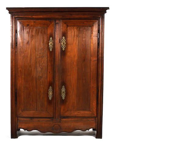 A walnut armoire, French provincial, Bretton, circa 1800