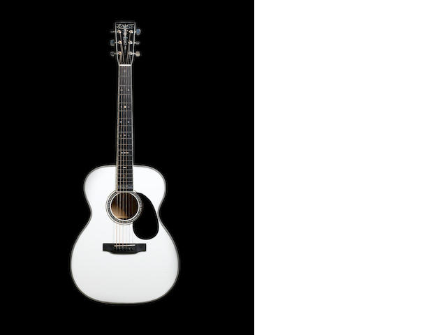 A Martin 000-ECHF Belleza Bianca acoustic guitar, Serial No. 1000305