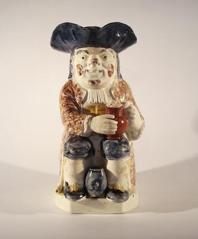 A Wood type Toby jug, circa 1790-1800