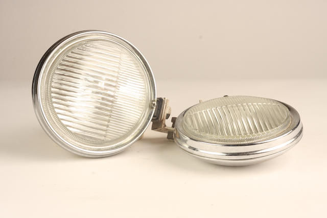 A pair of Hella driving lamps