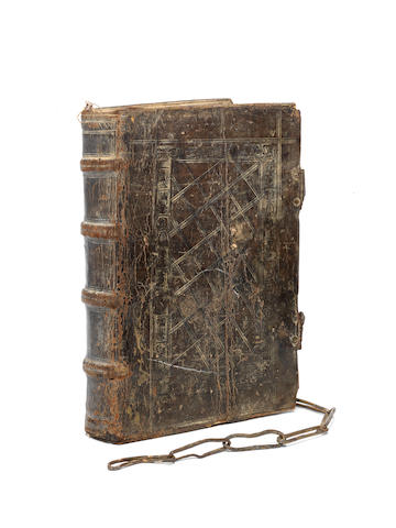 CHAINED BINDING [ERASMUS (DESIDERIUS) The Second Tome or Volume  of the Paraphrase of Erasmus Upon the Newe Testament: Conteynyng the Epistles of St. Pauls, and Other Apostles]