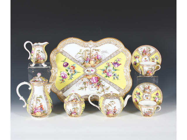 A Meissen cabaret set Late 19th Century.
