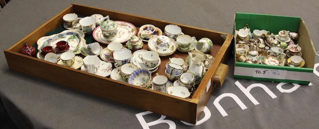 A quantity of 19th and early 20th Century cabinet cups.