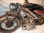 c.1928 BMW 740cc R62 Frame no. 22961 Engine no. 61603