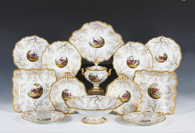 A Flight Barr and Barr part dessert service Circa 1830.