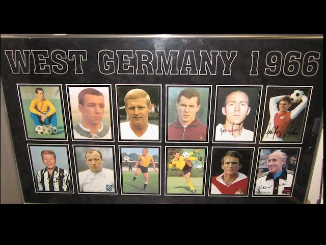 1966 World Cup final German team hand signed montage