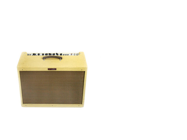 Fender Blues De Ville 212 Tweed re-issue combo guitar amplifier, Serial No. T-053838