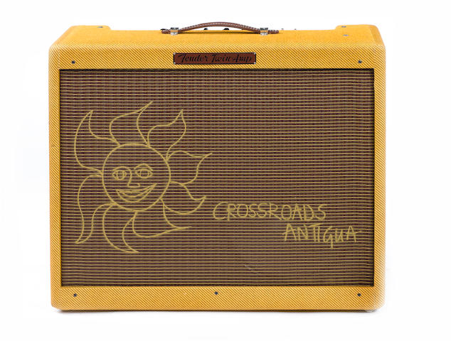 Fender Crossroads 57 Twin combo guitar amplifier,  Serial No. AB 025457