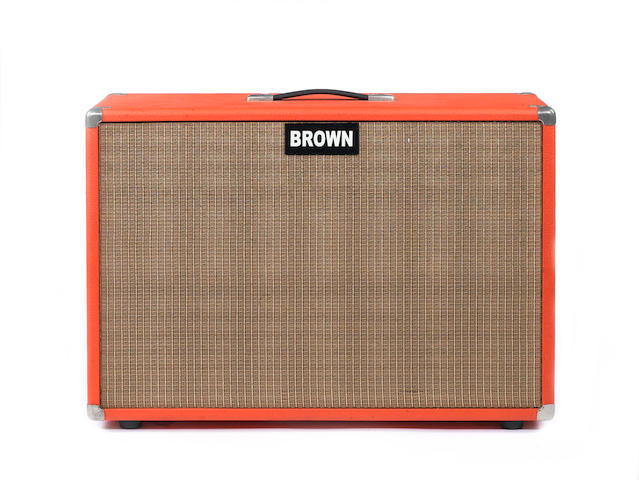 Brown 2x12 speaker cabinet, no Serial No.,