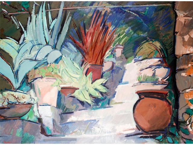 Peter Coker R.A. (British, 1926-2004) Garden Villa, Clos du Peyronnet