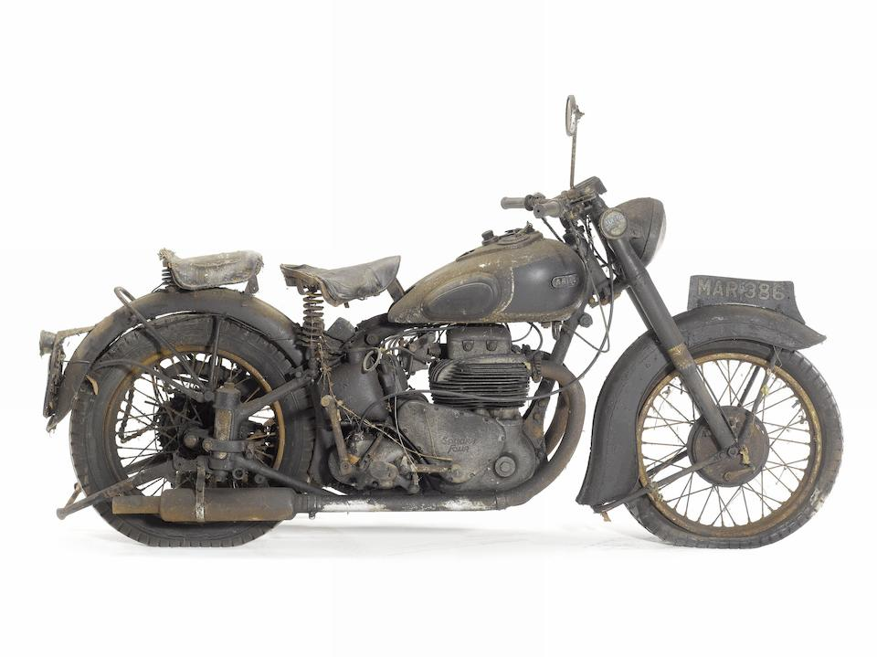 Only one owner since 1960,1950 Ariel 995cc Model 4G 'Square Four' Frame no. CW881 Engine no. JJ879