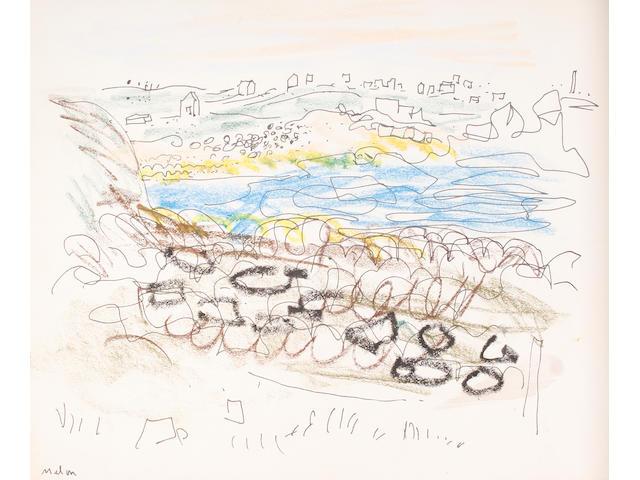 John Piper C.H. (British, 1903-1992) Coastal landscape
