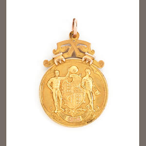 1914 F.A. Cup winners medal presented to Edwin Mosscrop