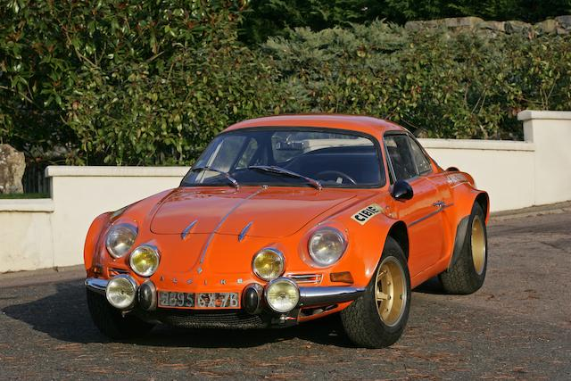 1971 Alpine Renault A110 1600S Group IV Coupé  Chassis no. 17544