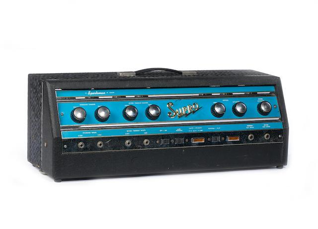 Supro S6698 'Sportsman' amp head guitar amplifier,  Serial No. 1-96500