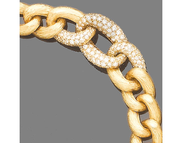 A diamond-set fancy-link bracelet, by Van Cleef & Arpels