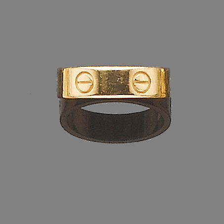 A 'Love' ring, by Cartier