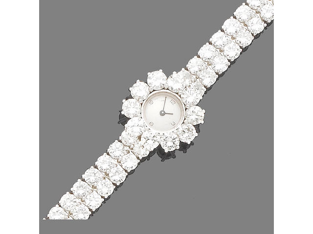 A diamond-set wristwatch
