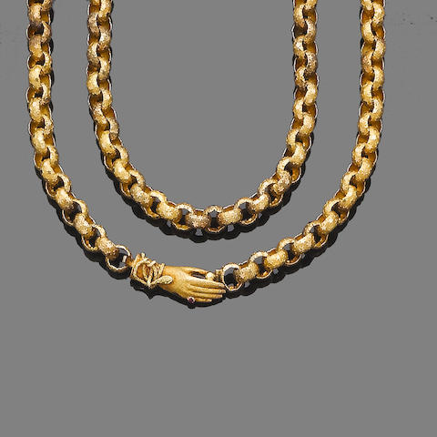 A gem-set longchain and bracelet suite (2)