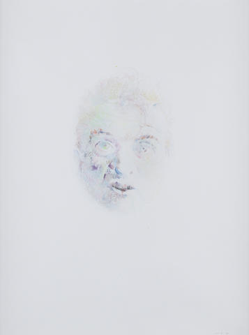 Louis Le Brocquy H.R.H.A. (Irish, born 1916) Image of Francis Bacon No.18 61 x 46 cm. (24 x 18 in.)