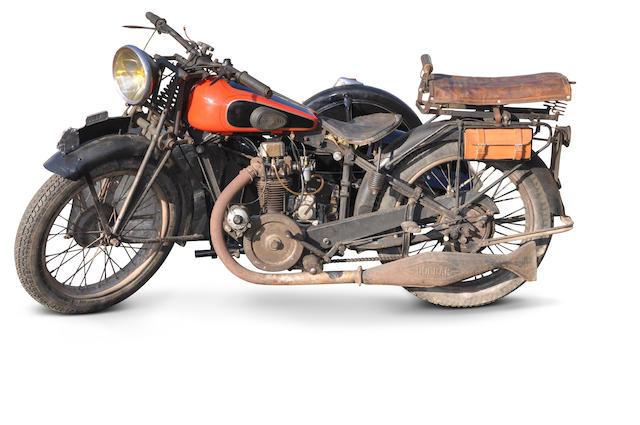c.1928 Dollar 349cc & Imperial Sidecar Frame no. 29974