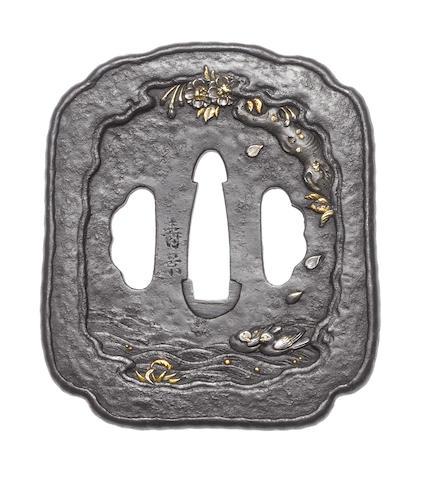 An iron tsuba By Morikawa Toshikage, Tanaka School, 19th century