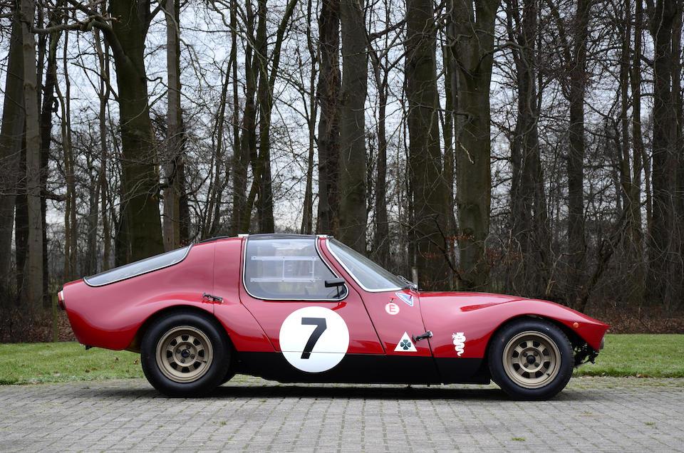 Appartenant à une grande collection privée, prototype unique, Ex famille Chizzola,1965 Alfa Romeo Giulia TZ Prototipo Berlinetta  Chassis no. AR10511 0003