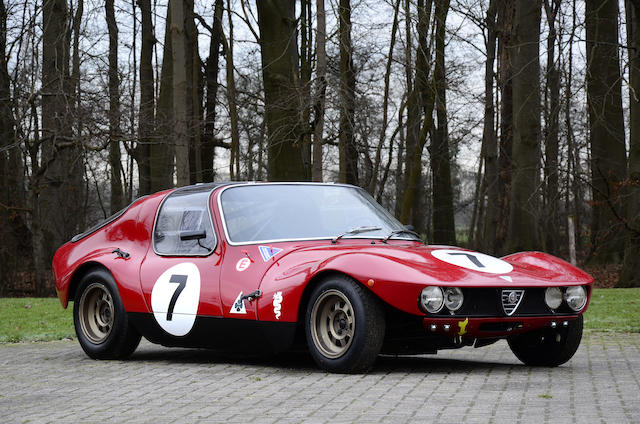 Appartenant à une grande collection privée, prototype unique, Ex famille Chizzola,1965 Alfa Romeo Giulia TZ Prototipo Berlinetta  Chassis no. AR10511 0003