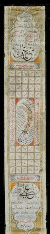 Three scrolls with calligraphic inscriptions Persia, 19th Century(3)