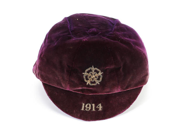 1914 England International cap awarded to Edwin Mosscrop
