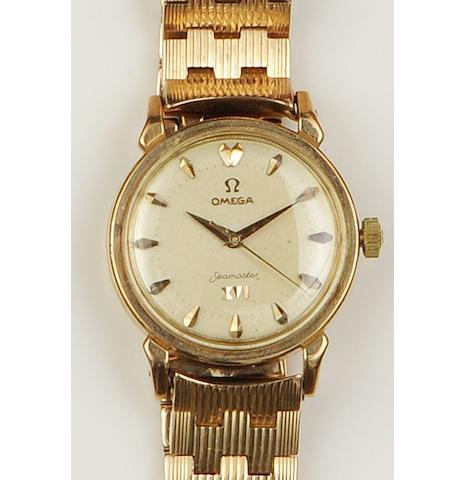 Omega: An 18ct gold gentleman's automatic wristwatch