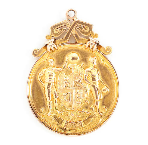 An 1896 English Cup Final medal awarded to Bob Petrie