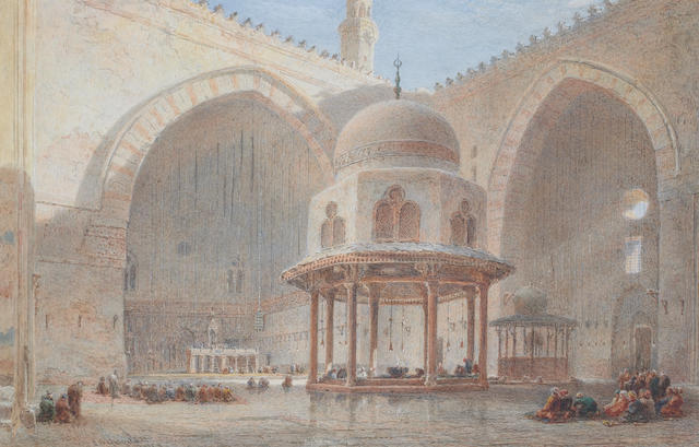 Edward Angelo Goodall, RWS (British 1819-1908) Mosque interior
