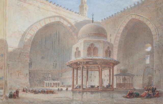 Edward Angelo Goodall, RWS (British 1819-1908) Mosque interior