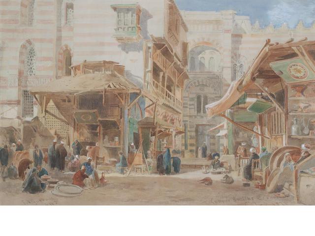 Edward Angelo Goodall, RWS (British 1819-1908) Copper market, Cairo