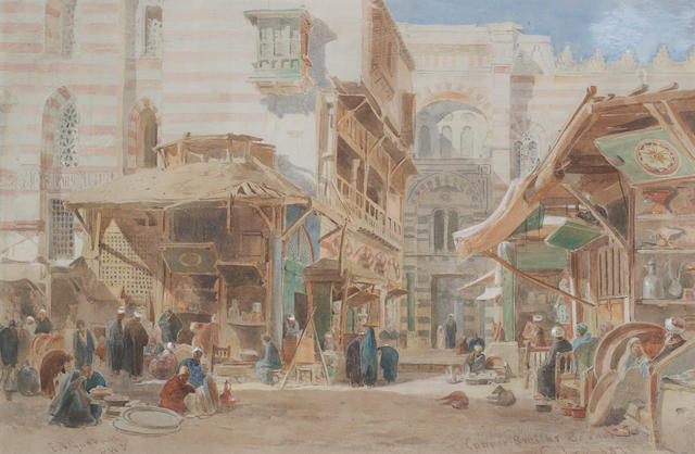 Edward Angelo Goodall, RWS (British 1819-1908) Copper market, Cairo