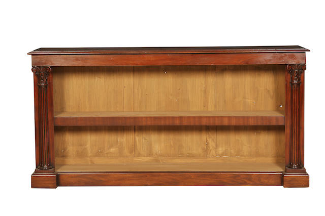 A large mahogany open bookcase