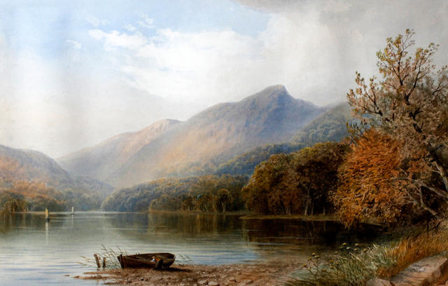 Cornelius Pearson (British, 1805-1891) 'Scene in Derwentwater', and 'Near Portmadoc, North Wales', a pair