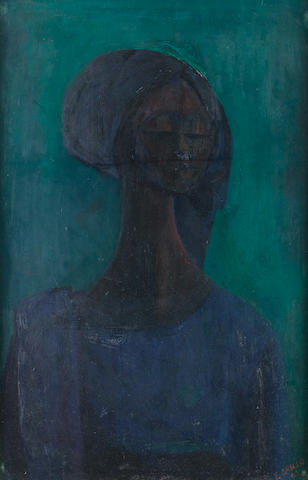 Yusuf Adebayo Grillo (Nigerian, born 1934) Girl in blue