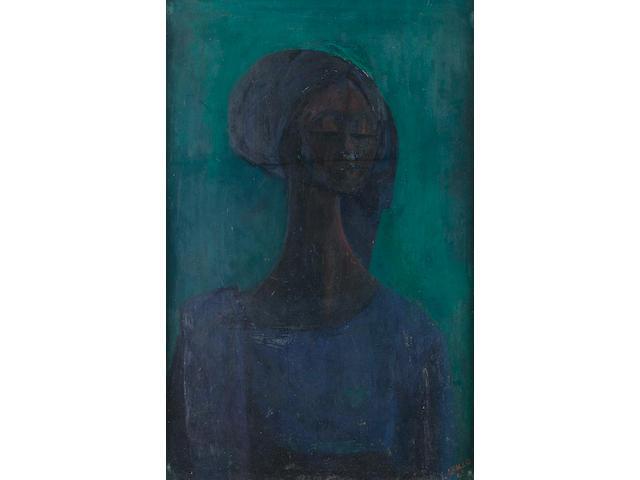 Yusuf Adebayo Grillo (Nigerian, born 1934) Girl in blue