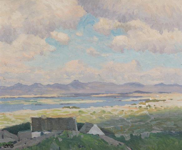 Charles Vincent Lamb R.H.A., R.U.A. (Irish, 1893-1964) landscape 33 x 40.5 cm. (13 x 16 in.)