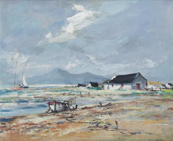 Kenneth Webb (Irish, born 1927) The Mourners from Tyrella 58.5 x 48 cm. (23 x 19 in.)