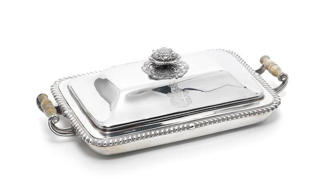 A George IV silver cheese pan, by Rebecca Emes & Edward Barnard, London 1827,