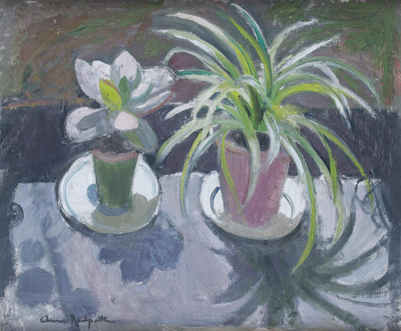 Anne Redpath, OBE RSA ARA LLD ARWS ROI RBA (British, 1895-1965) 'Plants in the sun'