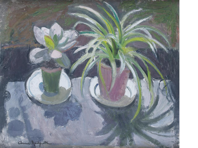 Anne Redpath, OBE RSA ARA LLD ARWS ROI RBA (British, 1895-1965) Plants in the Sun 51 x 61 cm. (20 x 24 in.)