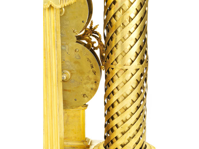 A very fine mid XIX Century French mantle clock and regulator, by HARTMANN, height 110 x 70cm,