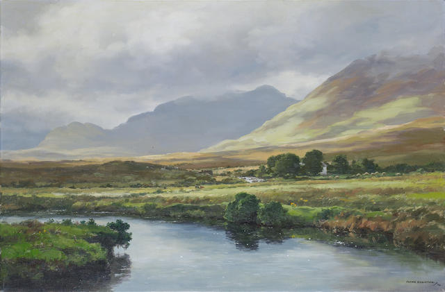 Frank J. Egginton (British, 1908-1990) The Bundorragha River, Connemara 61 x 91 cm. (24 x 36 in.)