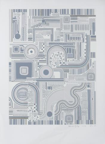 Sir Eduardo Paolozzi (British, 1924-2005) Untitled Grey Ten screenprints in colours, 1974, on Firenze, signed, dated and numbered from the edition of 100 in pencil, printed and published by Kelpra Studios, London, with their ink stamp verso, 640 x 488mm (25 3/16 x 19 3/16in)(10)(unframed)