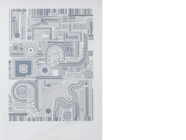 Sir Eduardo Paolozzi (British, 1924-2005) Untitled Grey ten screenprints in colours, 1974, on Firenze, signed, dated and numbered from the edition of 100 in pencil, printed and published by Kelpra Studios, London, with their ink stamp verso, 640 x 488 mm (25 1/4 x 19 1/4 in) (unframed) 10